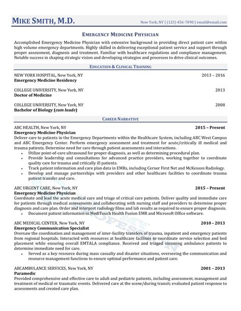 Sle Physician Resume by 10 Best Physician Resume Writing Services