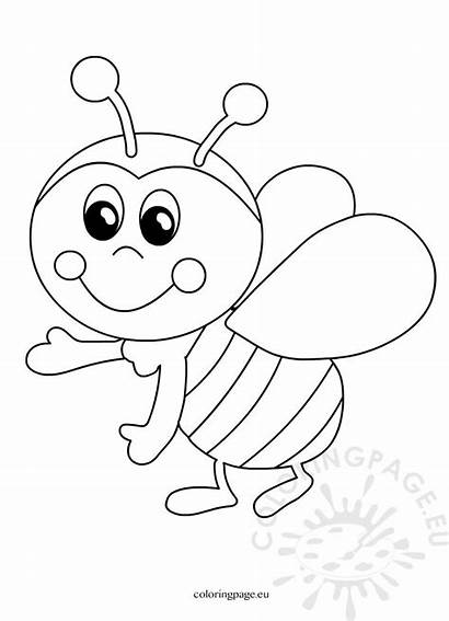 Bee Funny Cartoon Coloring Bees
