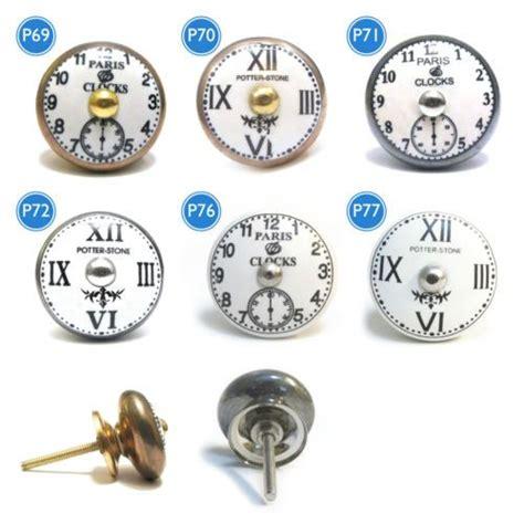 detalles de shabby chic ceramica vintage reloj cajon puerta perillas de armario tiradores