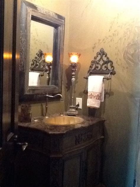 Faux Old World Charm Powder Room