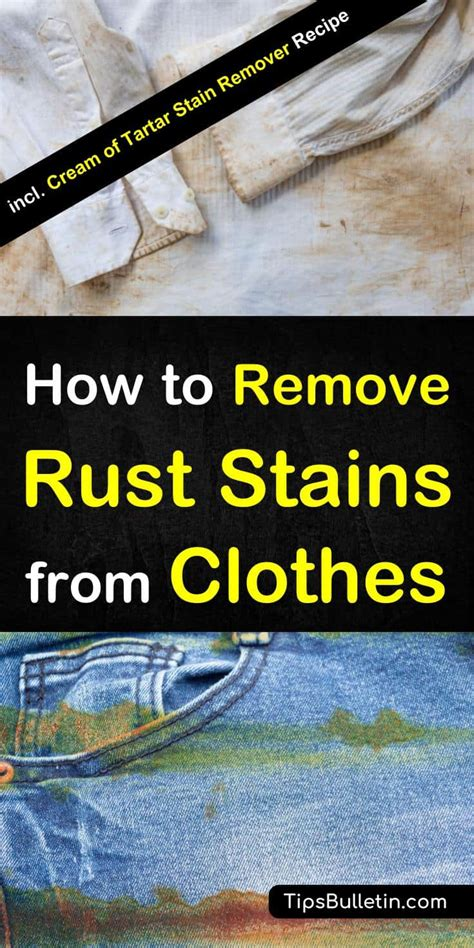 rust stains remove clothes clothing enjoyed hope