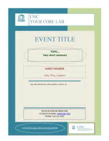 blank event flyer templates