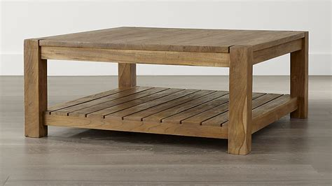 how should a coffee table be edgewood square coffee table crate and barrel