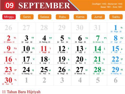 Kalender 2018 bulan September