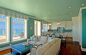 Shabby Chic Kitchen Ceiling Lights A Turquoise Kitchen In Malibu Interiors By Color