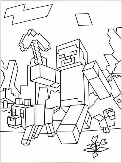 Minecraft Coloring Pages Creeper Face Printable Dragon