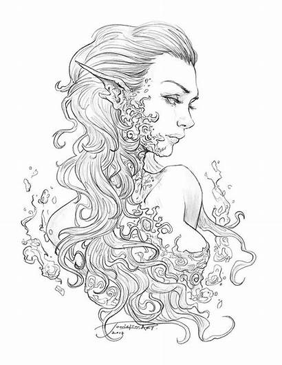 Coloring Pages Adult Fantasy Adults Colouring Fairy
