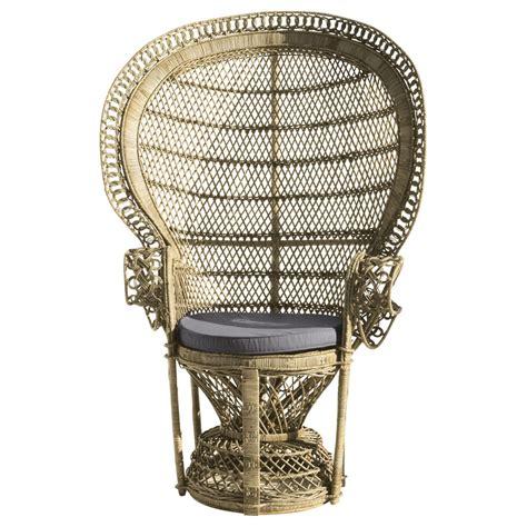 fauteuil emmanuelle pas cher fauteuil en rotin emmanuelle maisons du monde