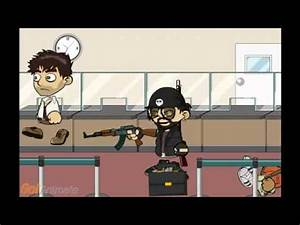 Bank Robbery Cartoon - YouTube