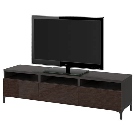 Ikea Besta Canada by Ikea Best 197 Tv Unit With Drawers Black Brown Selsviken