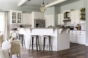 how to pick foolproof farmhouse paint colors cotton stem With kitchen colors with white cabinets with sea horse wall art