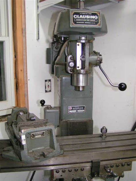 clausing  mill orig motor drive  vise maine