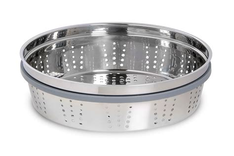 staub stainless steel steamer insert  quart cutlery