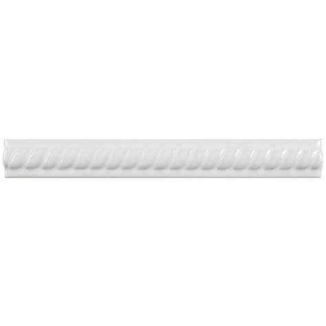 merola tile trenza blanco moldura 1 in x 8 in ceramic