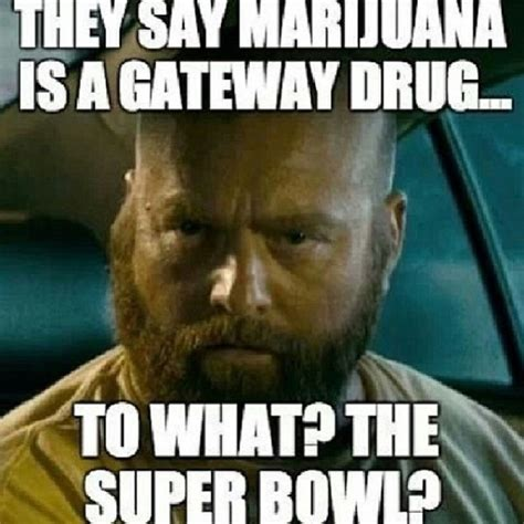 Pot Meme - they say marijuana is a gateway drug to what the superbowl