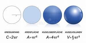 Circle Sphere Maths Formula German Stock Vector