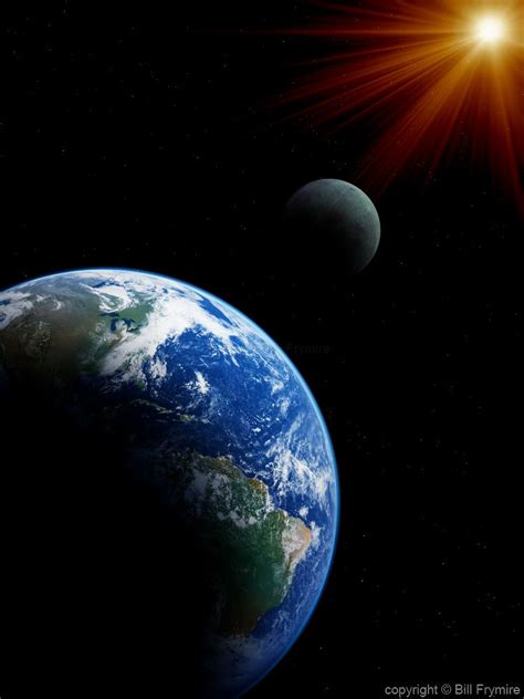 Sun Earth Moon Earth Moon And Sun From Space