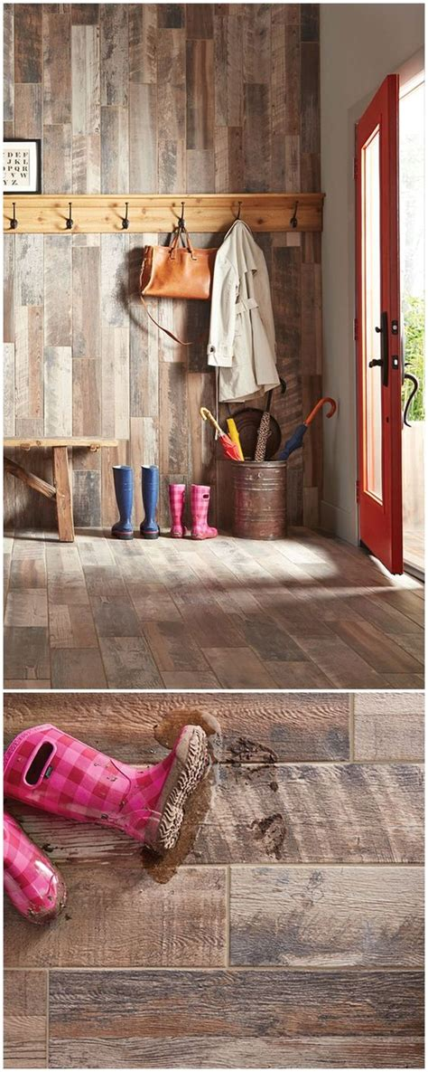 The Look Of Wood Floors In The Mudroom Absolutely This