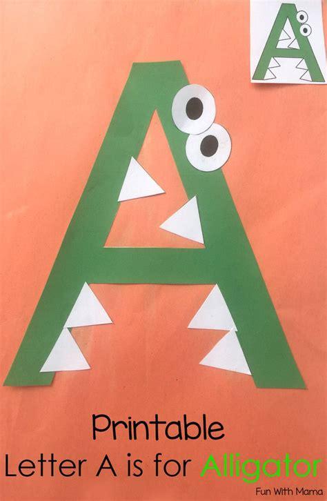 printable letter  crafts    alligator letter