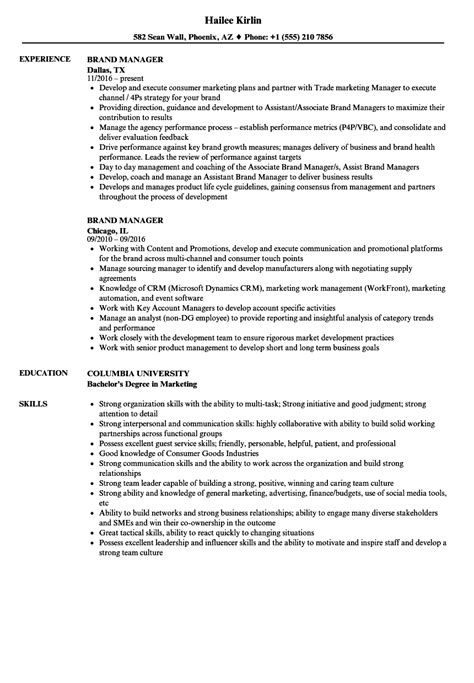 Brand Manager Resume by Brand Manager Resume Sles Velvet