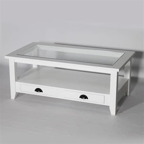 etagere angle cuisine table basse bois massif blanche avec plateau en verre