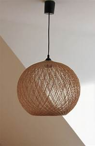 Abat Jour En Osier : lustre suspension chambre luminaire en bois suspension triloc ~ Nature-et-papiers.com Idées de Décoration