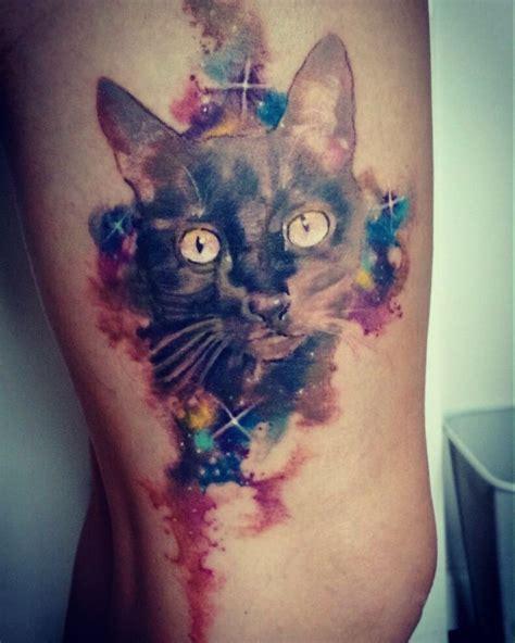 cat watercolor tattoo cat tattoos watercolor tattoo