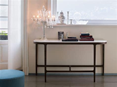 consolle o console consolle in rovere con piano in marmo by lema