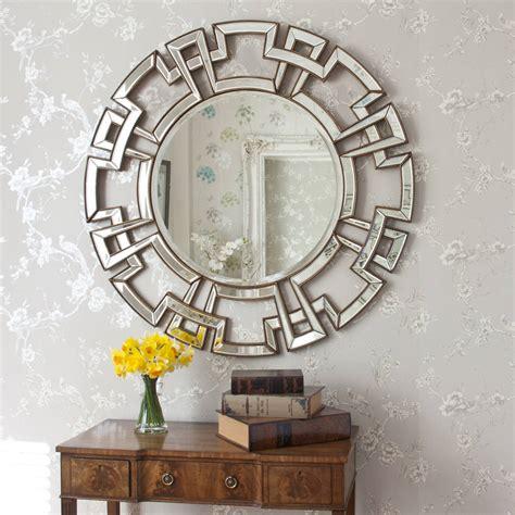 Atticus Champagne Round Decorative Mirror By Decorative