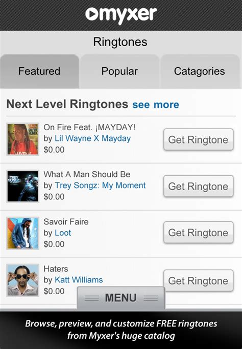 myxer iphone myxer ringtones entertainment utilities free app for