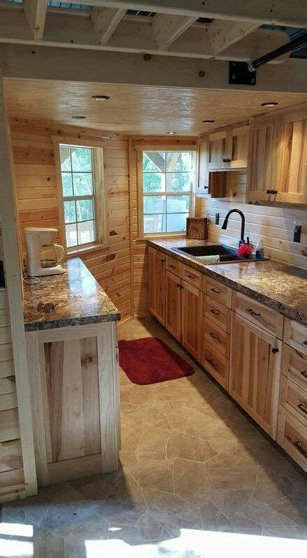 maximize  space  gracelands  wraparound lofted barn cabin   kitchen small