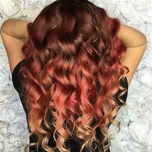 Balayage Cheveux Bouclés : couleur de cheveux acajou 64 photos pour choisir votre ~ Dallasstarsshop.com Idées de Décoration