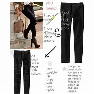 Diy Ripped Black Jeans | www.pixshark.com - Images ...