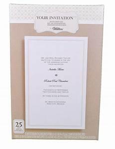 set of 25 wilton wedding simplistic white basic invitation With wilton wedding invitation kit template