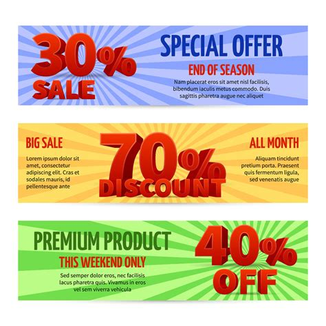 Discount voucher, sale coupon label designs. Special offer ...