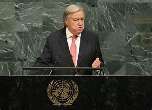 United Nations Secretary-General Antonio Guterres jabs ...