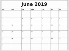 May 2019 Calendar Template – printable calendar templates
