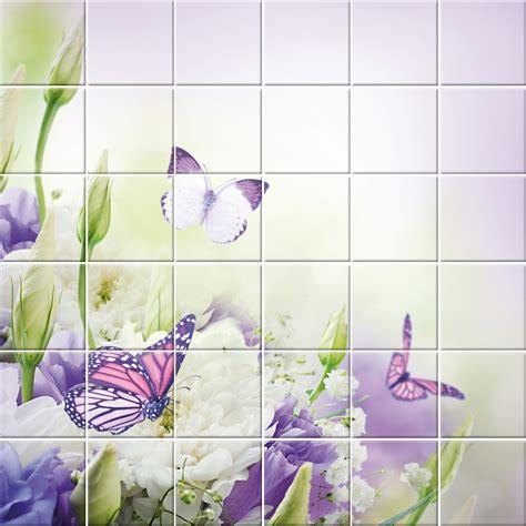 adesivo per piastrelle adesivi follia adesivo per piastrelle fiori farfalle
