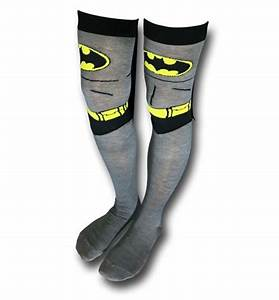 Batman Costume Over the Knee Caped Socks