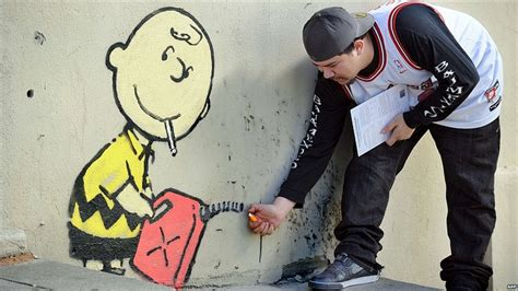 Convert Image Templates Graffiti by Bbc News In Pictures Banksy Work In La