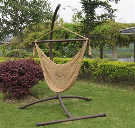 great hammock chair stand diy in taupe hues