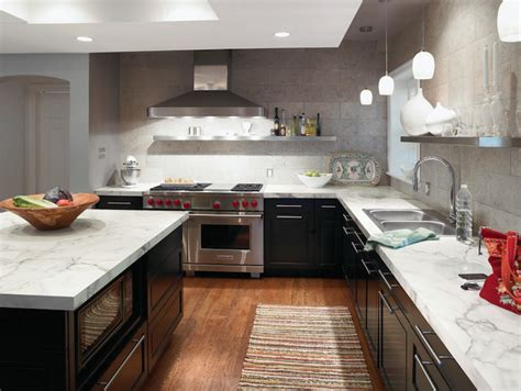 Formica Calacatta Marble  Contemporary  Kitchen  Formica