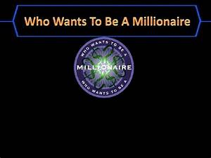 Who wants to be a millionaire template for Who want to be a millionaire game template