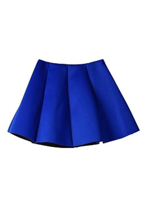 wst 18465 white flower denim skirt blue pleated skirt mini skater skirt choies