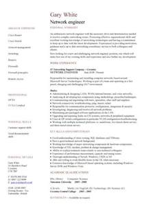 network engineer cv sle cv exles technology