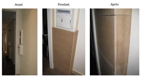 plaque cuisine comment fabriquer un coffrage cache compteur appartement