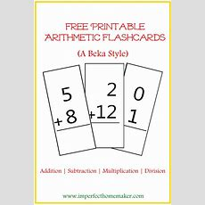 Printable Addition Flashcards  Christian Homeschool Family