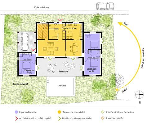 plans de maison plain pied 3 chambres plan maison de plain pied 140 m ooreka