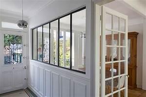 creer une verriere pour une entree de maison ou un couloir With porte d entrée pvc avec cloison vitrée salle de bain
