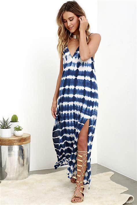 cool blue tie dye dress maxi dress tie dye maxi dress